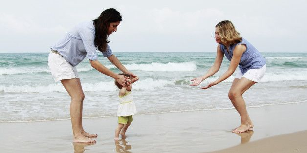 LOOK HOW CUTE THIS IS! Charlotte and Cassie and their little girl! The pic is also a link to an article