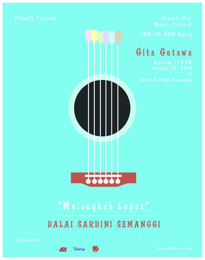 Concert music's poster of Gita Gutawa