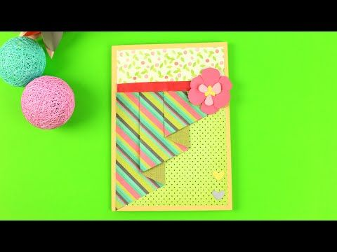 In our new scrapbooking tutorial we'll craft a splendid maternity card with a paper flower. This DIY greeting card will become a pleasant gift for a mother-to-be! #greetimgcard #scrapbooking #paperflower