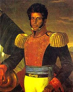 Vicente Guerrero (1782-1831), the Mexican revolutionist and 2nd president of Mexico, he was mixed black and Indian ancestry who abolished slavery in 1829.
