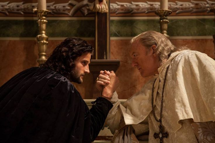 Mark Ryder as Cesare and John Doman as Alexander VI Borgia - Season 3