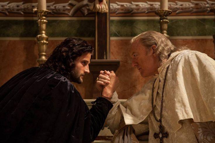 Mark Ryder as Cesare and John Doman as Alexander VI Borgia - Season 3