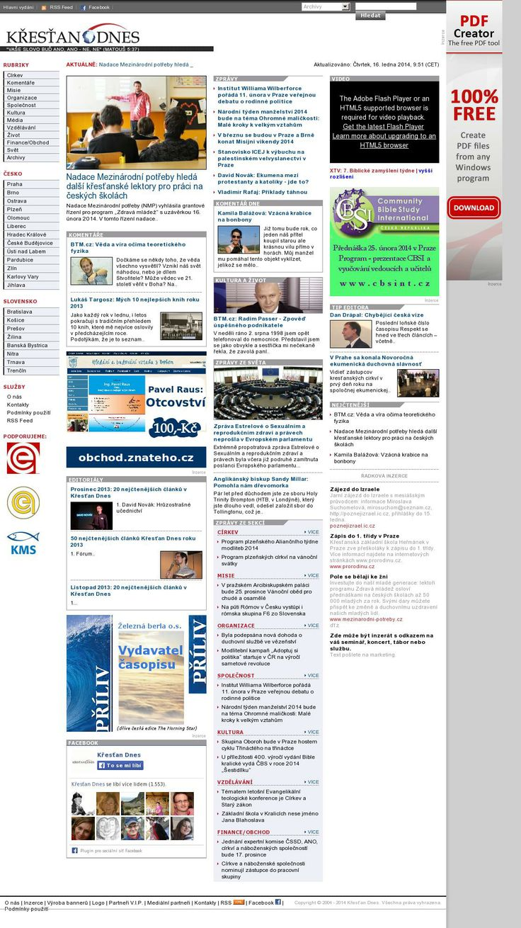 The website 'http://www.krestandnes.cz/' courtesy of @Pinstamatic (http://pinstamatic.com)