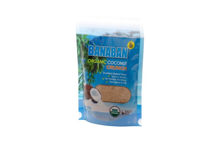 Banaban Organic Coconut Crunch is naturally high in fibre and iron. Give your meals a nutrient boost by using Coconut Crunch as a breakfast cereal, in your baking and as a natural thickener in cooking.