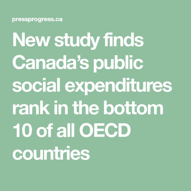New study finds Canada's public social expenditures rank in the bottom 10 of all OECD countries
