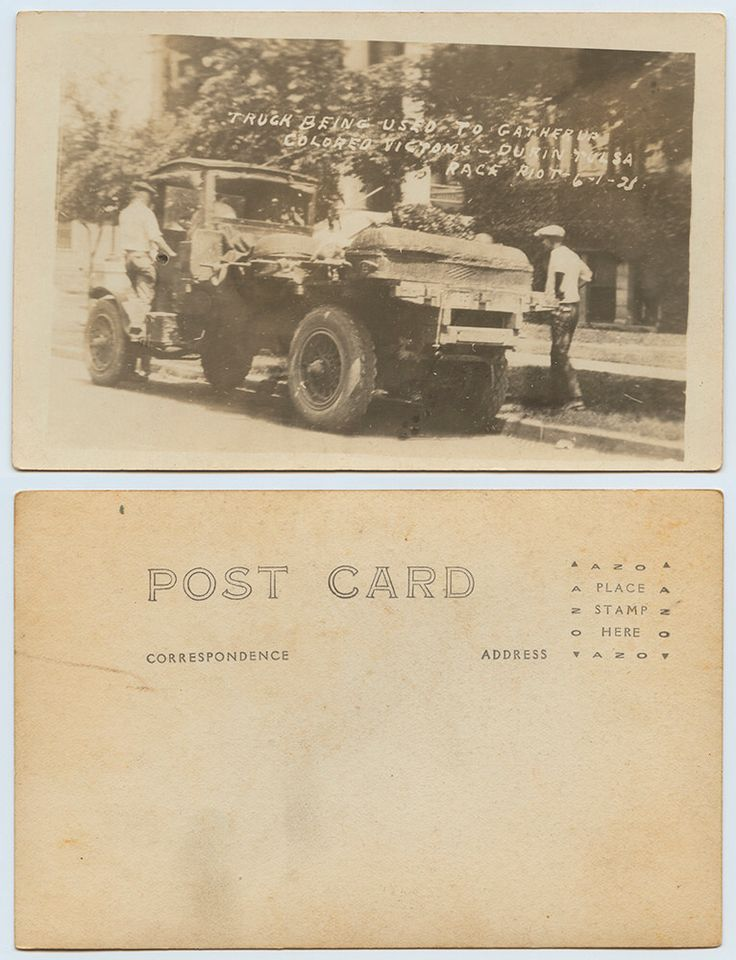 Truck Being Used to Gather up Colored Victims - During Tulsa Race Riot, 6-1-21