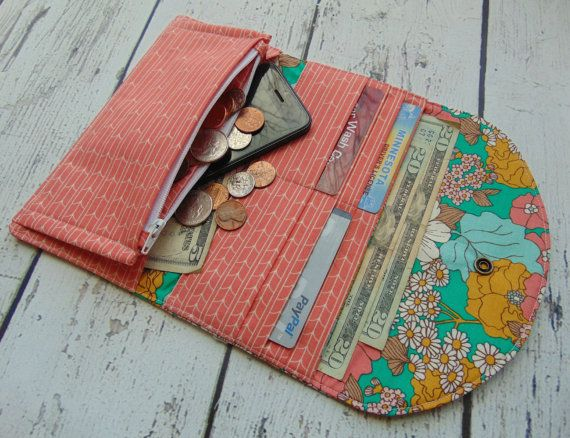 Women's Fabric Wallet Wallet Credit Card Holder por Shoppebylola