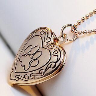 Paw Heart Locket Necklace