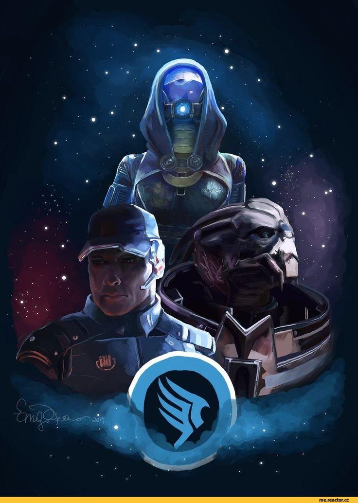 Mass Effect,фэндомы,ME art,Garrus,Tali,Anderson