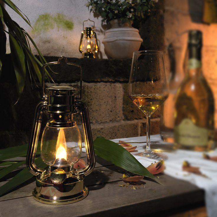Lanterne décorative LED à piles, doré 5524570
