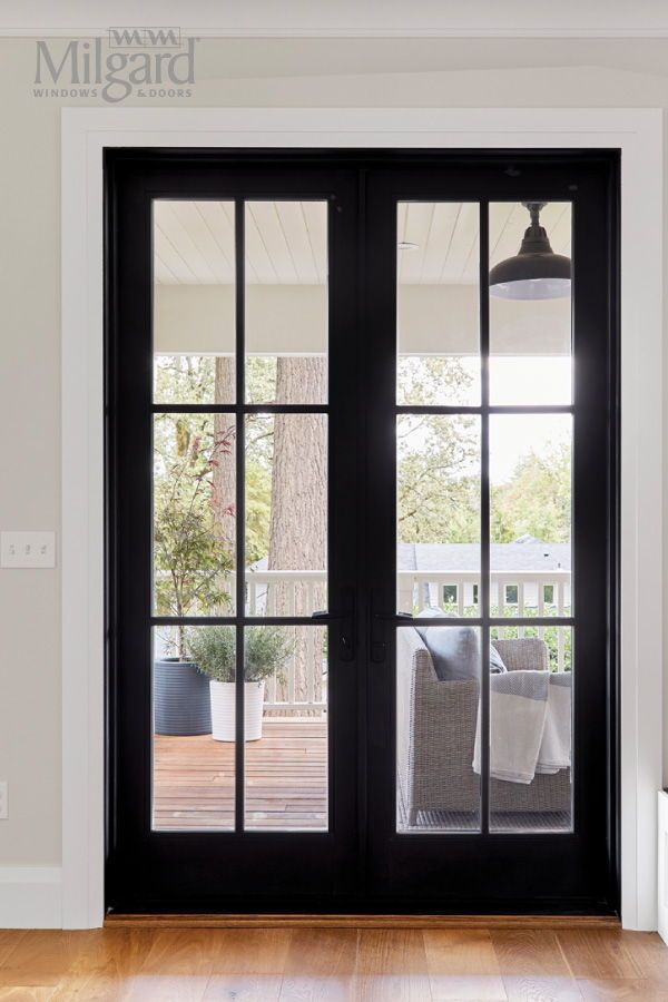 Looking For French Glass Door Ideas This Black Modern Glass Door With Premium Exterior Finishes Glass French Doors French Doors Exterior Farmhouse Patio Doors