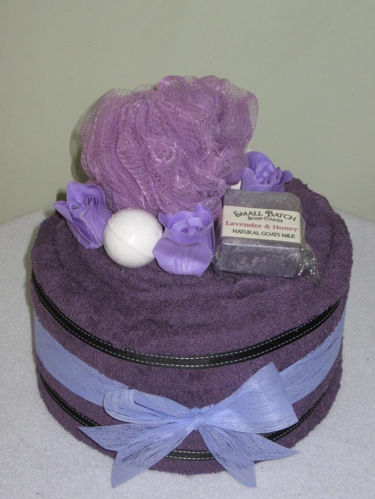 Lavender Towel Cake