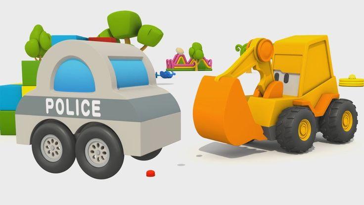 Cartoni animati per bambini: L'Escavatore Max: Come fare un'auto della p...