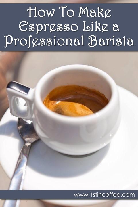 How To Make Espresso Like A Professional Barista! Understanding the process of making espresso is the first step on the path towards the true coffee artistry. In order to reach the point when you can make great espresso for your cappuccino's, lattes, and more, you need to first understand how to make espresso. It is so easy to make bad coffee, but take heart. With the right tools and the right knowledge, you will be able to brew your own bit of coffee heaven...