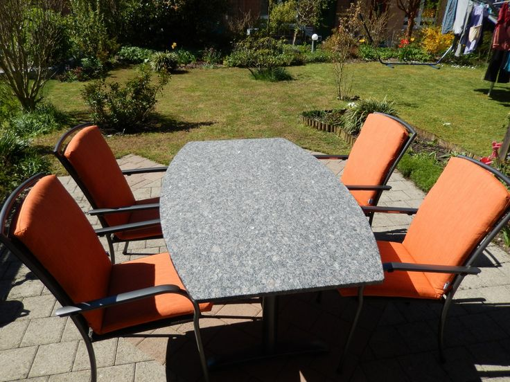 New garden furniture. During the summer time I often work outside in my garden at my laptop. http://bruno-buergi.com