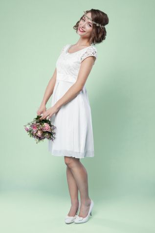 elegantes brautkleid für das standesamt das knielange brautkleid ...