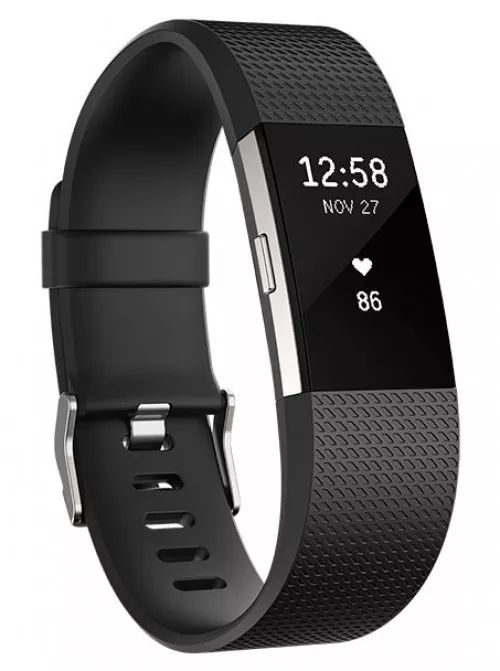Fitbit Charge 2 Aktivitetsarmbånd Small - Sort