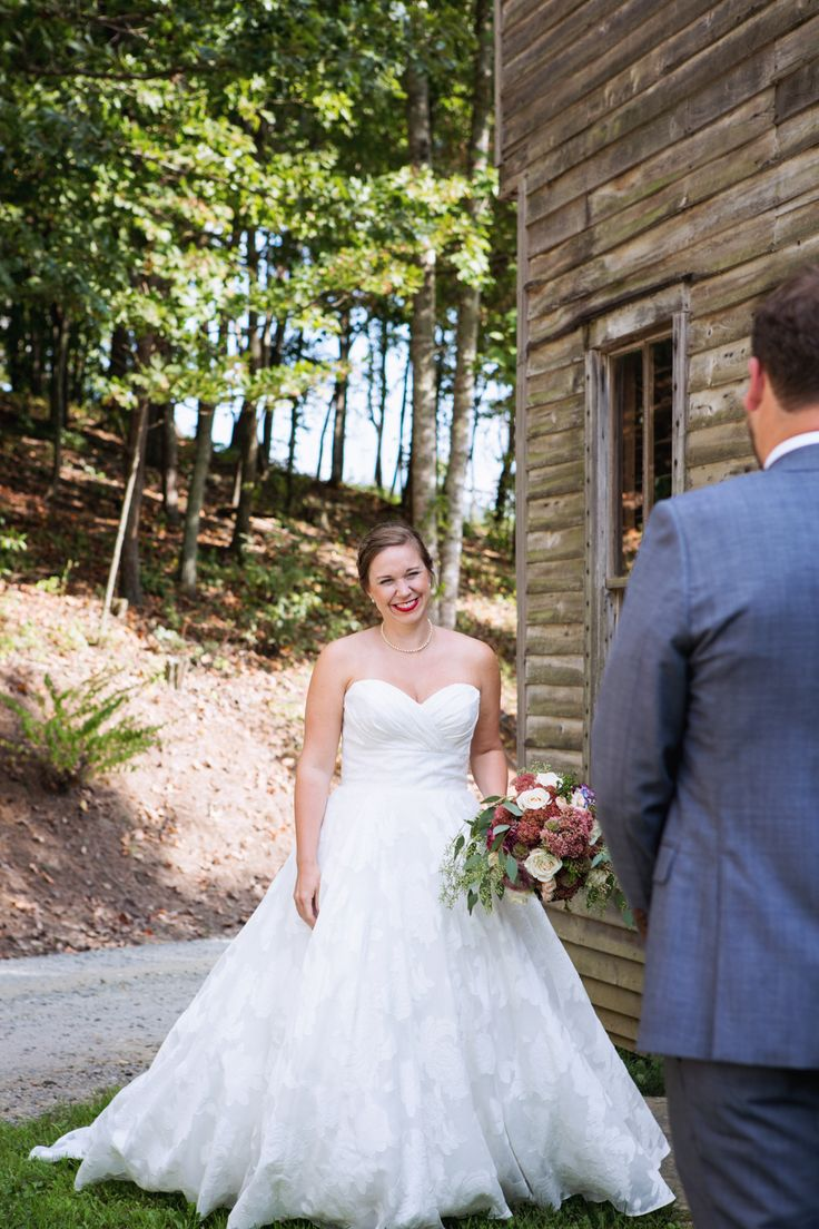 First look | wedding at McGuires millrace farm in Murphy, NC.  mcsweenphotography.com