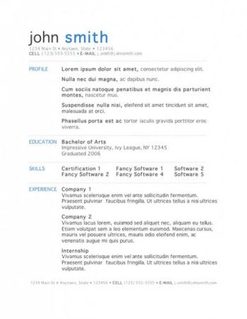 11 best Professional and Creative Resume Templates in Microsoft - Free Ms Word Resume Templates