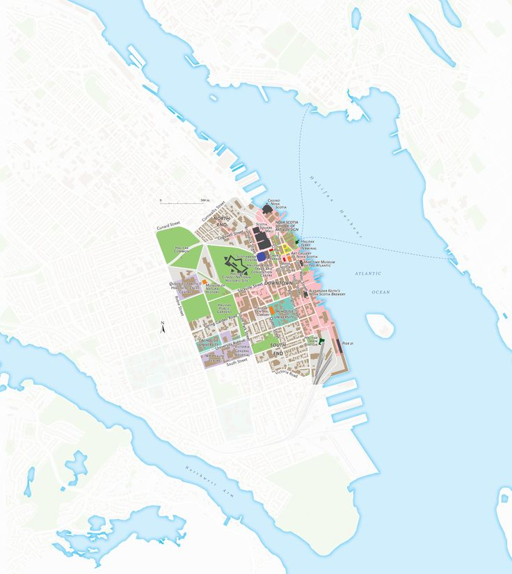 A map of downtown Halifax N part