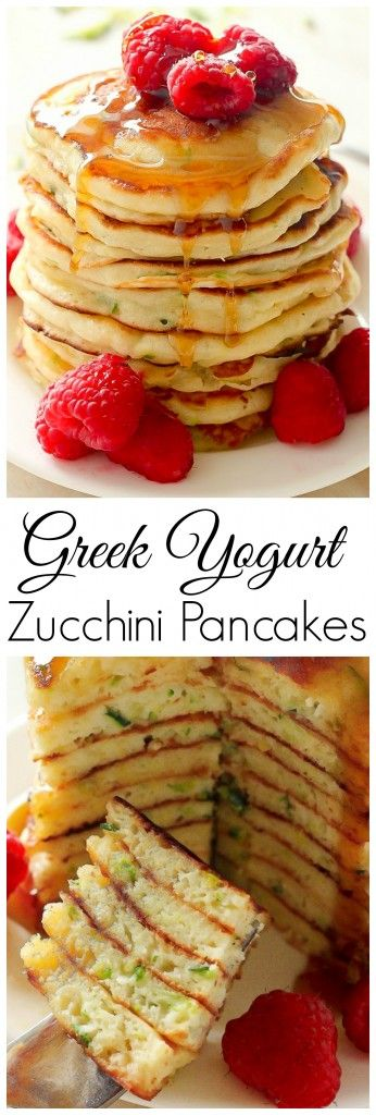 The BEST! Healthy Greek Yogurt Zucchini Pancakes SO delicious everyone will ask for seconds!