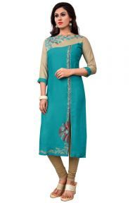 Latest Wholesale Ravishing Aqua Blue Designer Kurti Supplier Online Collection in india