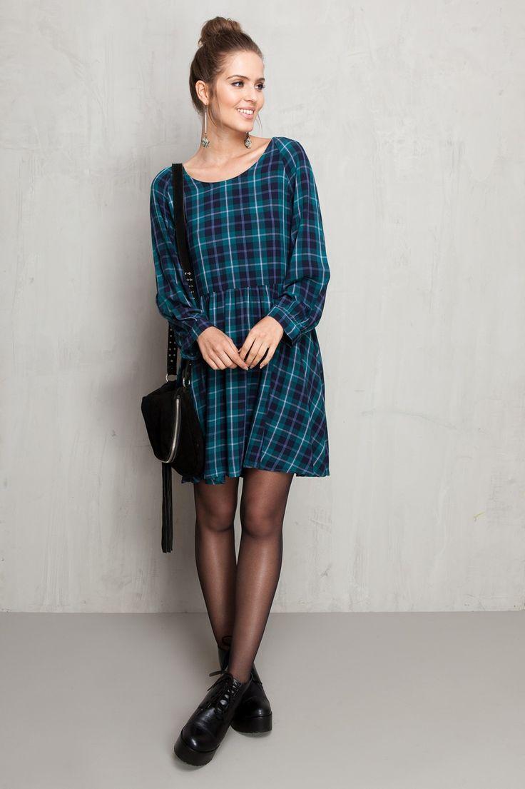 vestido amplo xadrez | Dress to
