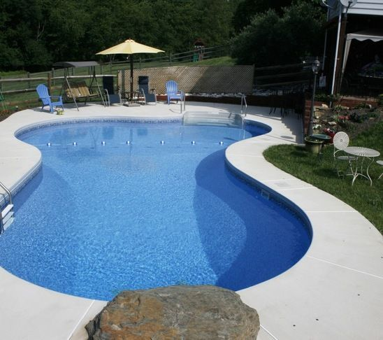 Brushed Concrete Pool Decks