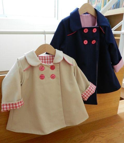 Tuto lou pour transformer manteau ipbb - à tester ! à partir du patron les intemporels pour bébé
