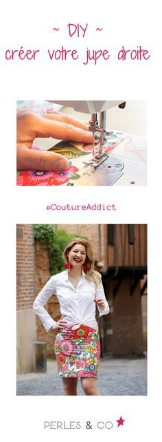 Vous aimez la couture? Réaliser facilement une jupe droite avec le tutoriel de Perles & Co. >> https://www.perlesandco.com/Jupe_crayon_tissu_Flower_Power-s-2737-40.html