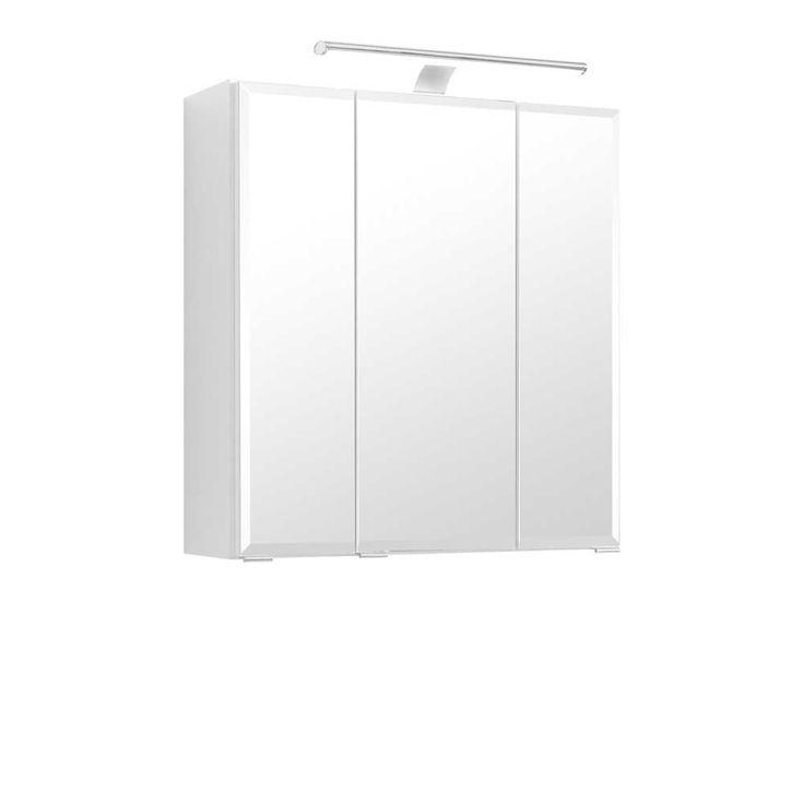 3D Spiegelschrank mit LED Aufbauleuchte Weiß Jetzt bestellen unter