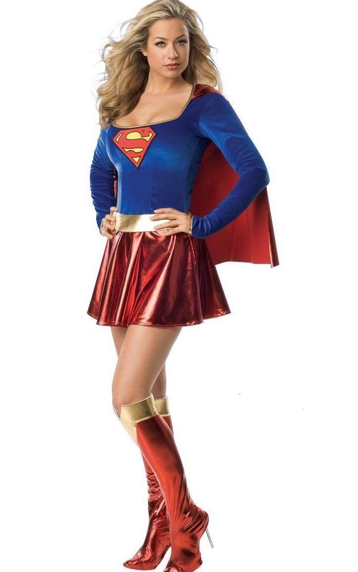 Supergirl Halloween Women Costumes S-2XL