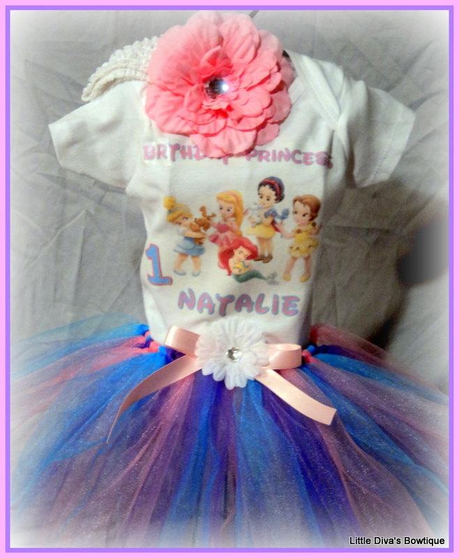 First Birthday Disney Princess Tutu 3 By LittleDivasBows 4400