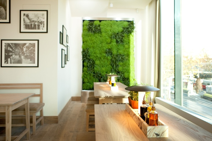 The new design - the living wall