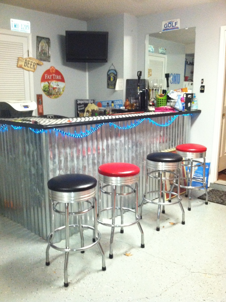 Garage Bar For The Man In My Life Garage Wall Ideas Pinterest Garage Bar Garages And Bar