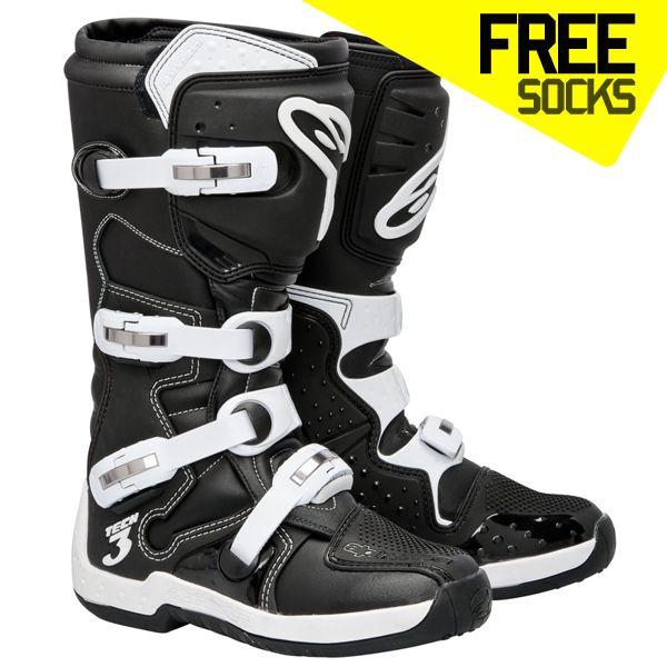 Alpinestars Tech 3 Boots - Black White