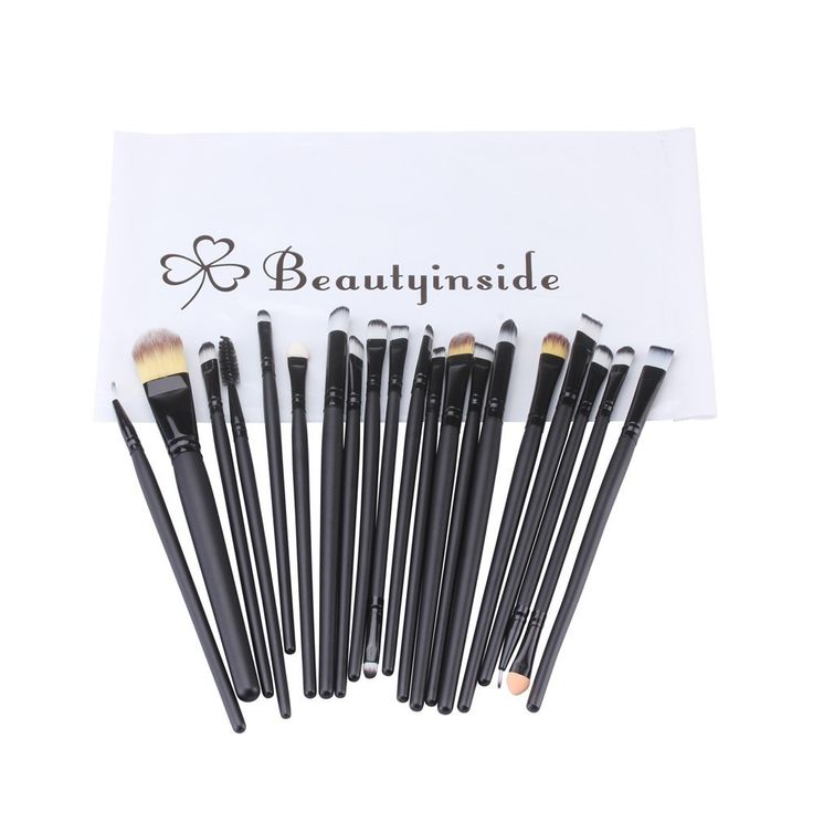 Beautyinside® 20 Pcs Makeup Eye Brushes Cosmetic Set, Foundation Brush, Eye Shadow Brush, Eye Liner Brush, Lip Brush, Mascara Brush, Round Brush, Flat Brush, Concealer Brush * For more information, visit image link.