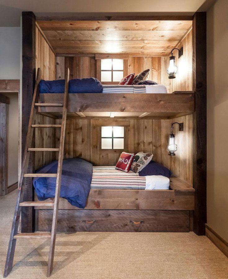 Rustic Bunk Bed Designs Log Cabin Rustic Bunk Beds Bunk Beds
