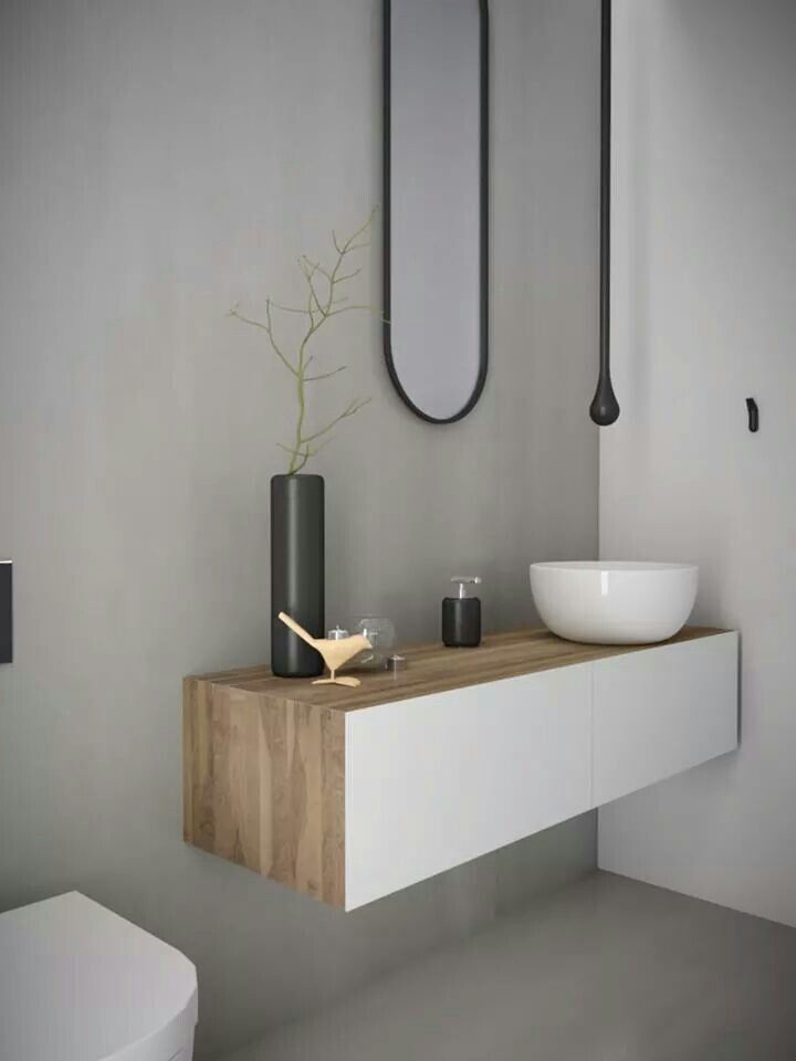 Bathroom wth concrete