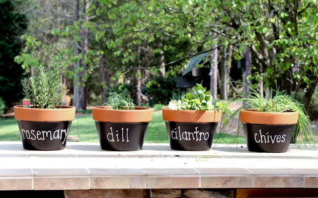 Garden Design With Martha Inspired Terracotta Herb Pots Garden / ì ?ì?  Pinterest With