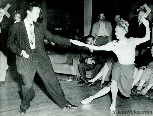 Jean Veloz and her brother Ray, lindy hopping in the 40s