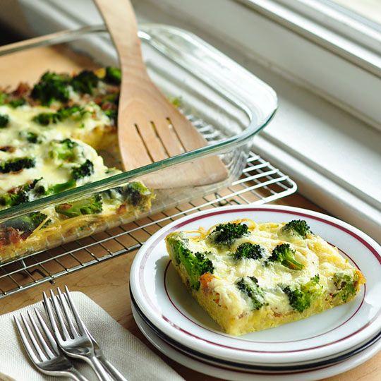 make ahead breakfast broccoli amp spaghetti frittata