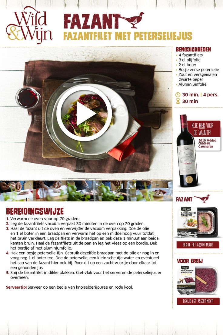 Fazantfilet met peterseliejus - Lidl Nederland