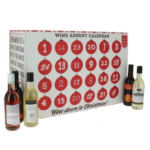 Our very own (adult only) wine advent calendar with 24 miniatures tucked away inside.