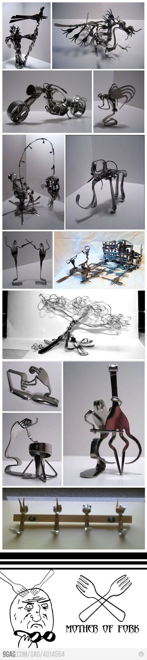 forks - I can't imagine the talent (and strength!) it takes to make these shapes based on the little bit I've tried