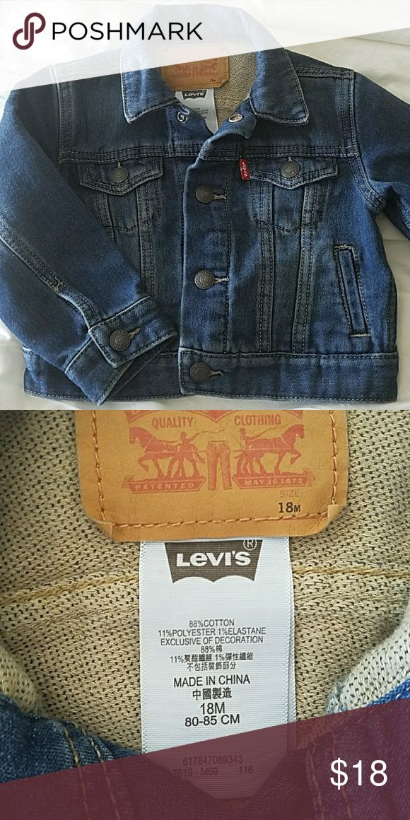 1 DAY SALE 18M Levi's Jean Jacket Like new and super cute. Ask questions & feel free to make an offer. Levi's Jackets & Coats Jean Jackets