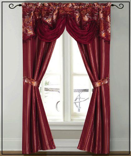 Dainty Home Patine Window Panel With Attached Valance 84