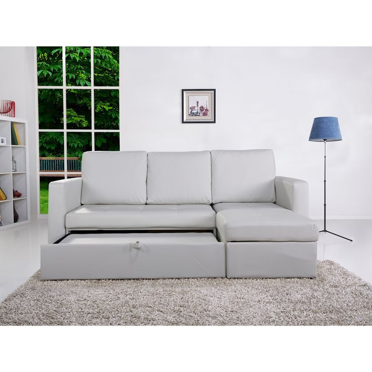 The-Hom Saleen 2-piece White Bi-cast Leather Storage