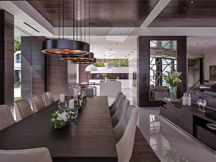 Perfect Modern Mansion In Beverly Hills On World Of Architecture 23 728x546 Pixels MansionModern HousesModern Dining RoomsModern