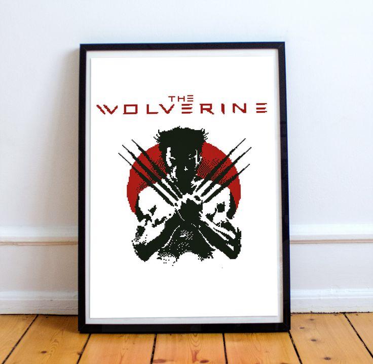 Wolverine / James Howlett /  Marvel Comics / X-Men / Hugh Jackman / logan movie / Super Heroes - Cross stitch pattern pdf format by Embroidery4kidsArt on Etsy